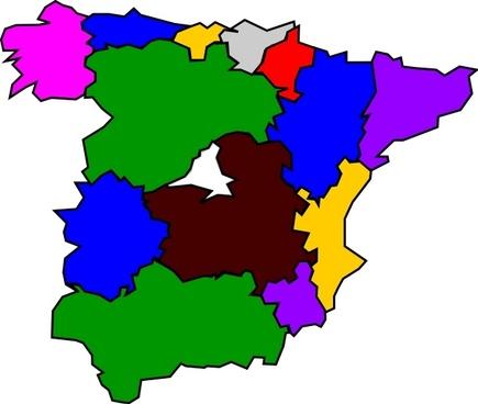 Spanish Regions clip art