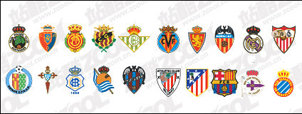 Spanish soccer clubs LOGO