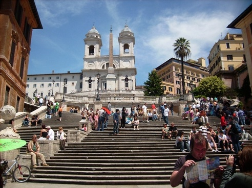 spanish steps rome stairs