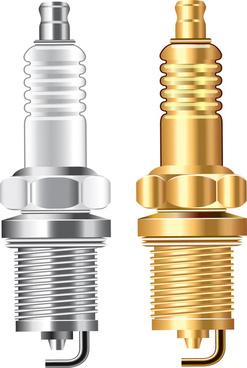 spark plug isolated