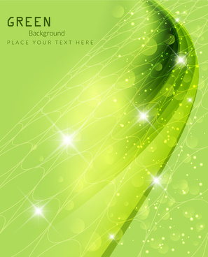 sparkle bokeh green background vector