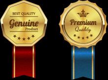 sparkling award medal vector set