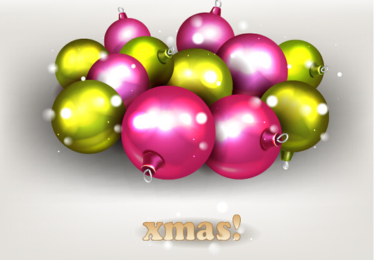 sparkling baubles christmas vector design