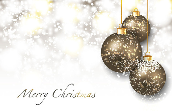 sparkling blurred background with christmas balls