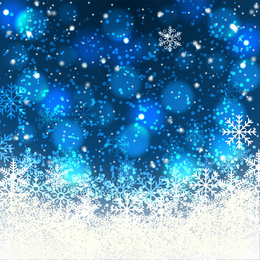sparkling blurred dark background with abstract snowflakes