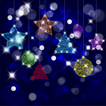 sparkling christmas baubles on blurred background