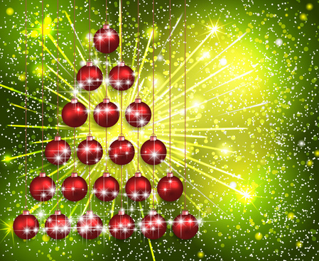 sparkling christmas baubles on firewalls background
