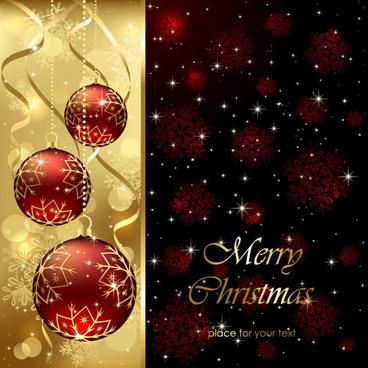 sparkling christmas elements vector backgrounds