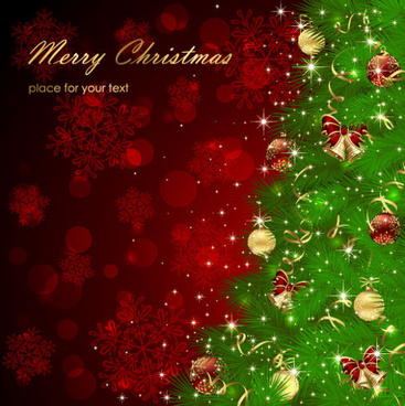 sparkling christmas elements vector backgrounds