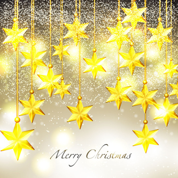 sparkling christmas stars design background