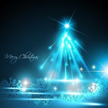 sparkling christmas tree design vector