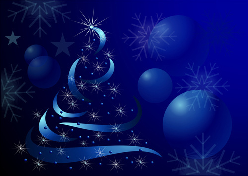 sparkling christmas tree design vector