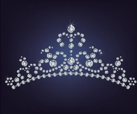 sparkling diamonds clothing vector set