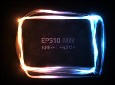 sparkling energy frame vector graphics