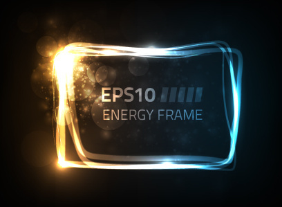 sparkling energy frame vector graphics
