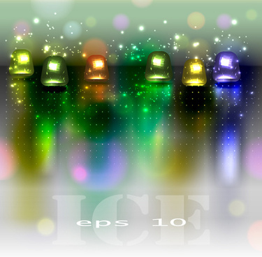 sparkling glass elements background vector
