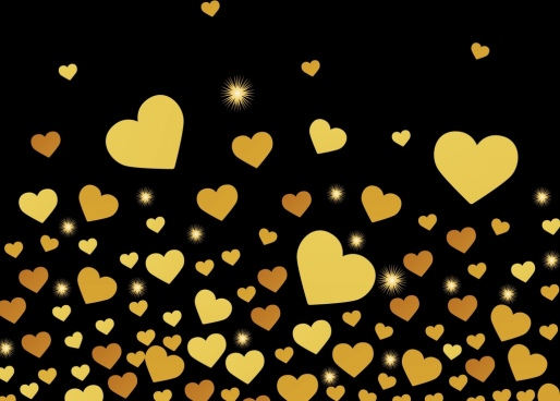 sparkling golden heart background repeating decoration