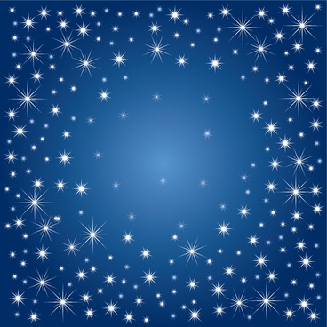 stars background sparkling blue white ornament
