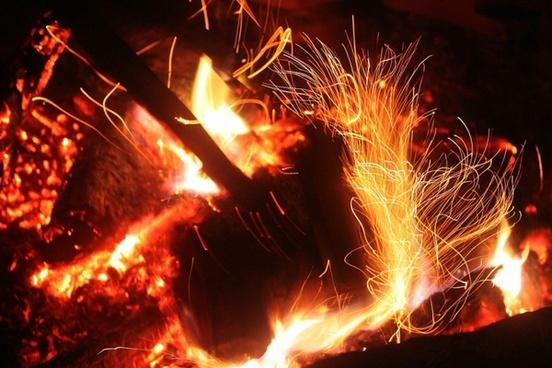sparks flames light