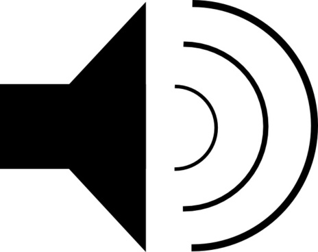 Speaker Icon clip art