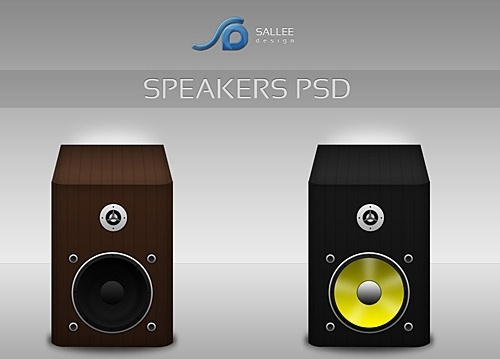 Speakers Icons Free PSD File