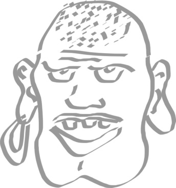 Speaking Pirate Man clip art
