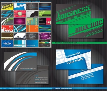 special business card template vector