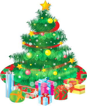 special christmas tree design elements vector