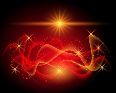 light effect background twinkling dynamic transparent curves decor