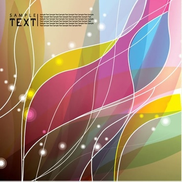 special hyun dynamic flow line background vector illustration
