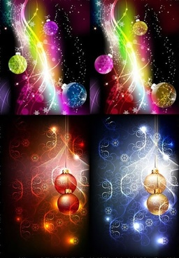 christmas background templates gorgeous baubles lights decor