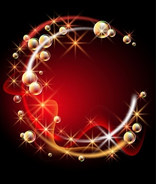 decorative background red golden elegant sparkling dynamic bubbles