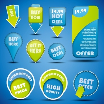 special offer sale labels stickers vector