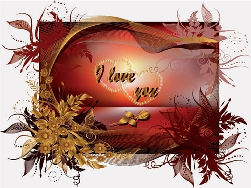 special valentine day greeting card vector
