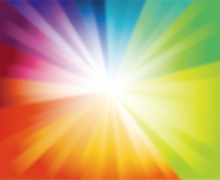 spectrum burst background vector illustration