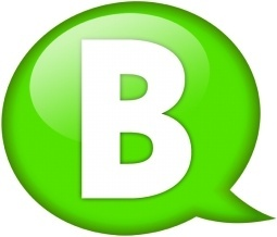 Speech balloon green b
