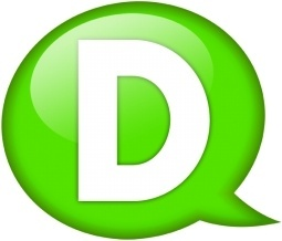 Speech balloon green d