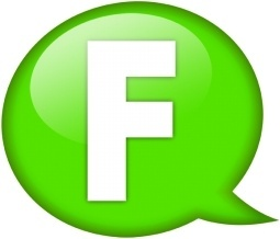Speech balloon green f