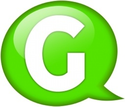 Speech balloon green g