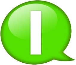 Speech balloon green i