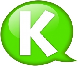Speech balloon green k