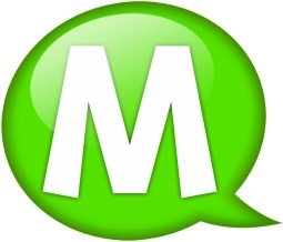 Speech balloon green m