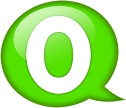 Speech balloon green o