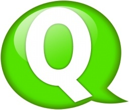 Speech balloon green q