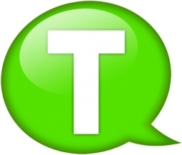 Speech balloon green t