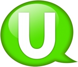 Speech balloon green u