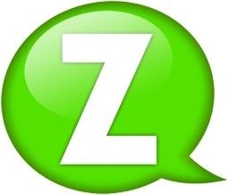 Speech balloon green z