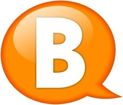 Speech balloon orange b