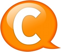 Speech balloon orange c