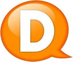 Speech balloon orange d